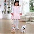 2017 NEW HOT 1 pc Choo Yong Elétrica pet filhote de cachorro de brinquedo de pelúcia simulado andando dançando música puxar corda Teddy dog pet eletrônico hl189