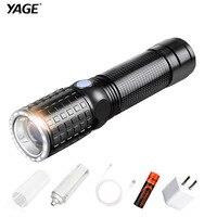 YAGE 341C T6 2000LM Aluminum Zoom CREE LED Flashlight 18650 Lamp 6 Modes USB Torch Light