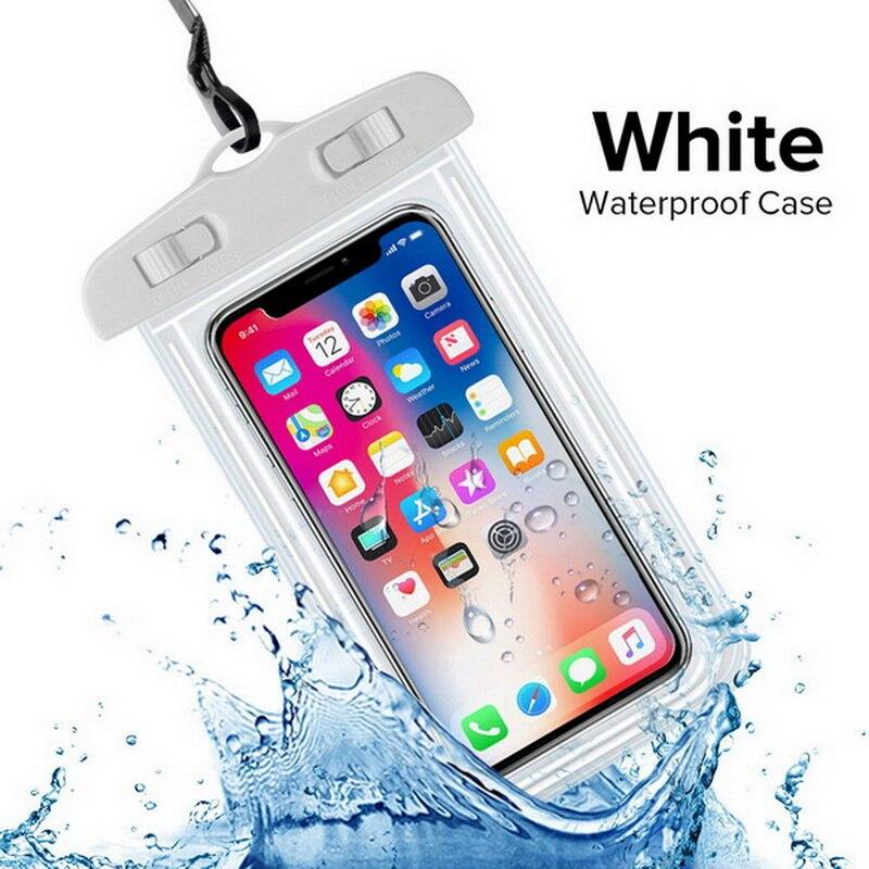 INIU, Универсальный Водонепроницаемый Чехол для huawei P30 P20 P10 Lite mate 20 10 Pro Nova 3e, чехол для мобильного телефона, водонепроницаемая сумка - Цвет: White