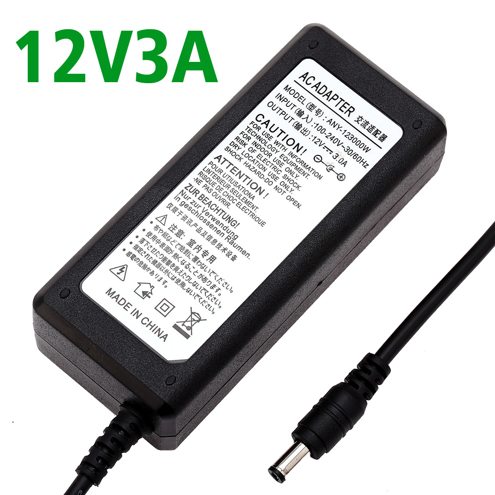 12V 3A LED light power adapter LED Power Supply Adapter drive for 5050 3528 2835 LED Light 12V3A not with line Real 3A