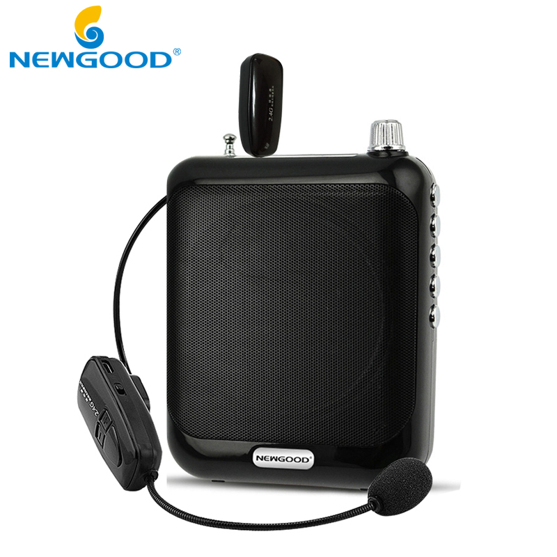 Prix pour 2.4G Amplificateur de Voix Mégaphone Booster Microphone Mini Portable Haut-Parleur USB TF Carte FM radio pour Enseignant Guide Promotion