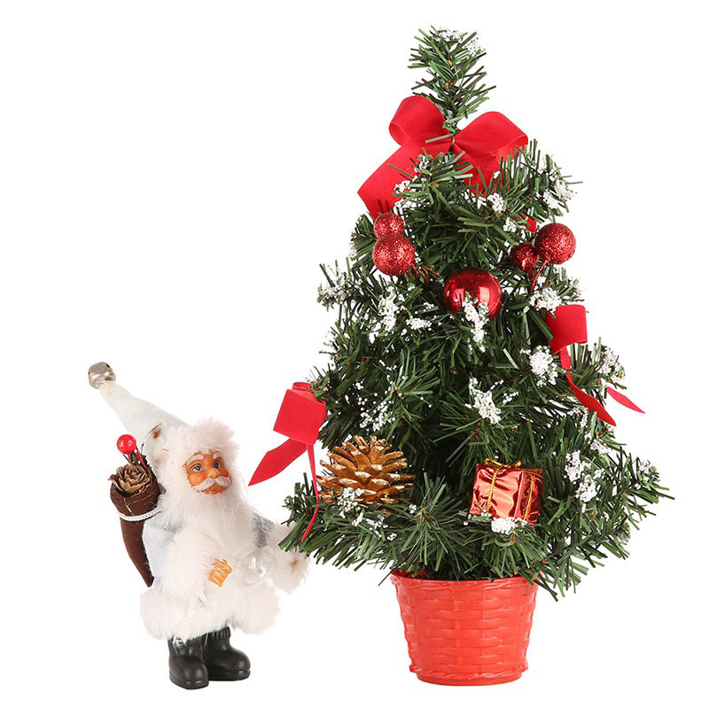 US Shipping Christmas Trees Decorations A Small Pine Tree Placed In The Desktop Festival Home Party Ornaments 20cm 30cm 40cm