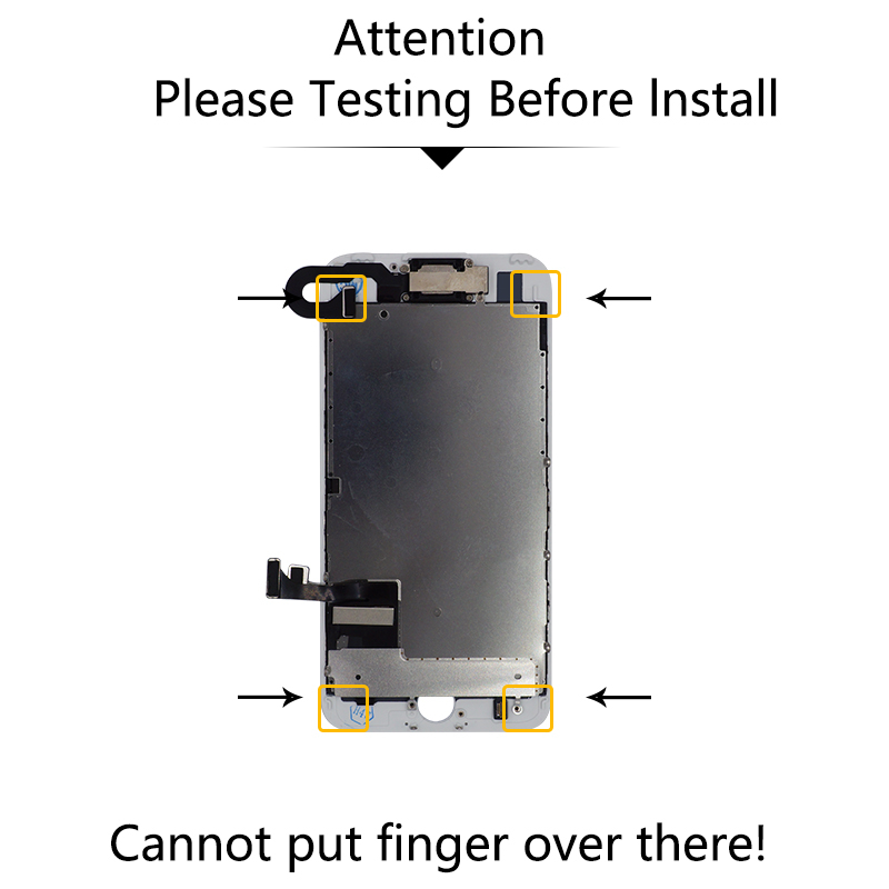 Full Assembly LCD Replacement For iPhone 7 Screen Display with Digitizer And Front Camera Ear Speaker Home Button in Mobile Phone LCD Screens from Cellphones Telecommunications