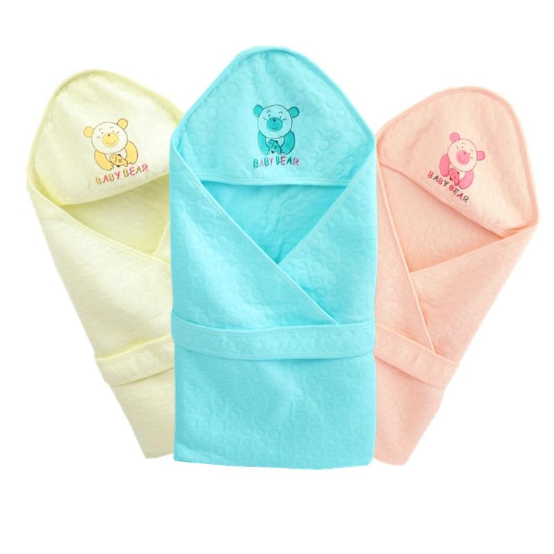 Summer Baby Blanket Infant Bebe Cotton Breathable Envelop Swaddle Blankets For Newborn Baby Hooded Sleepsack Parisarc Blankets