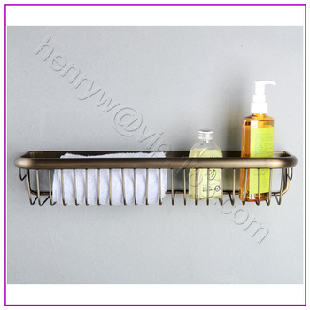L15651 - Luxury Wall Mounted Bronze Color Brass Material Bathroom Accessories 45CM length Bathroom Shelves
