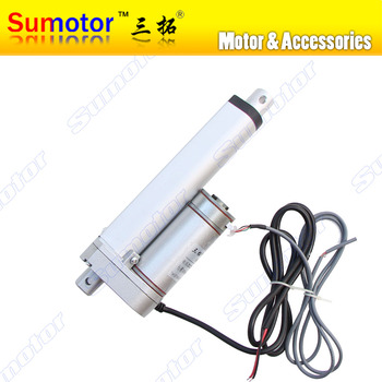 "HB100 4"" stroke 100mm travel Electric linear actuator with Photoelectric encoder sensor DC motor DC 24V 10mm/s Pusher 90Kg"