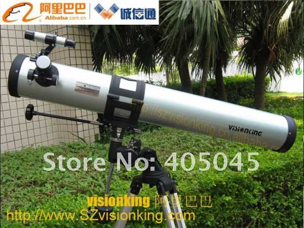 Visionking 76900 (76/900mm) Equatorial Mount Outdoor Space Astronomical Telescope Space Explore Astronomy Telescope Monoculars visionking 150750 150 750mm 6 equatorial mount space reflector astronomical telescope
