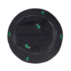 2017 новая вышитая зеленая кактус Панама шляпы для женщин boonie шляпы для защиты от УФ-лучей шапки Рыбак Солнцезащитная пляжная шляпа для лета