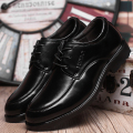 Men's Casual Leather Shoes Man Lace-up Round Toe Business Dress Shoes England Sping And Autumn Famous Luxury Brand Style 2016