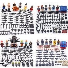 6pcs/lot Compatible Legoed PUBG Game Figure Weapons Set Playerunknown's Battlegrounds Model Building Blocks kits Brick Toys
