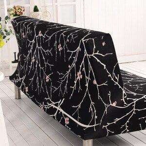 Image 4 - أسود شامل غطاء أريكة دنة سرير أريكة قابلة للطي غطاء أغطية أريكة منشفة لغرفة المعيشة armless غطاء أريكة