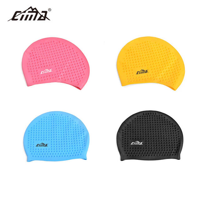 f4d6a1a085f CIMA Swimming hat adults Waterproof high quality silicone Swim Caps Ear  Protect women Long Hair Sports Pool men Swimming cap