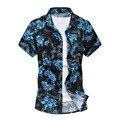 Camisa de los hombres de Moda Marca Hawaiano Camisa de Verano Para Hombre de manga Corta Casual Camisetas Tallas Grandes 5xl Impreso Beachwear MCS014