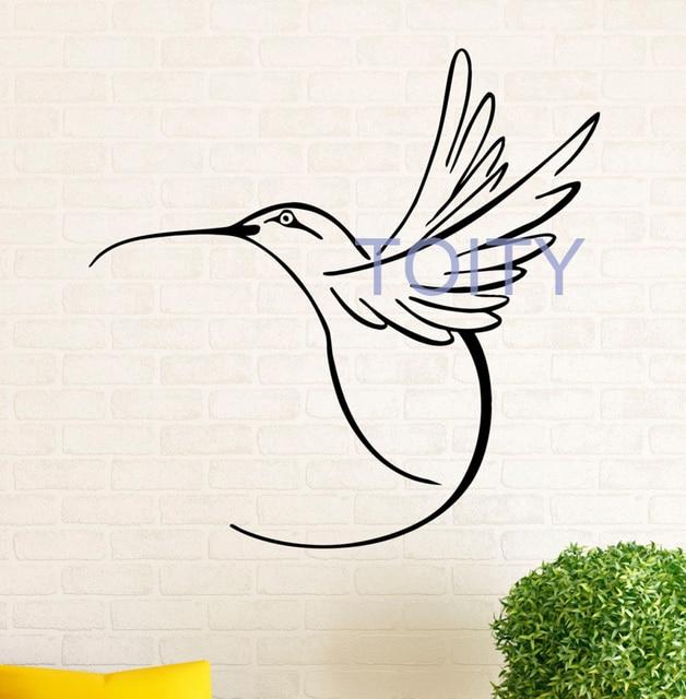 Hummingbird Wall Decal Colibri Bird Vinyl Window Stickers Interior Bedroom Home Decor Dorm Room Art