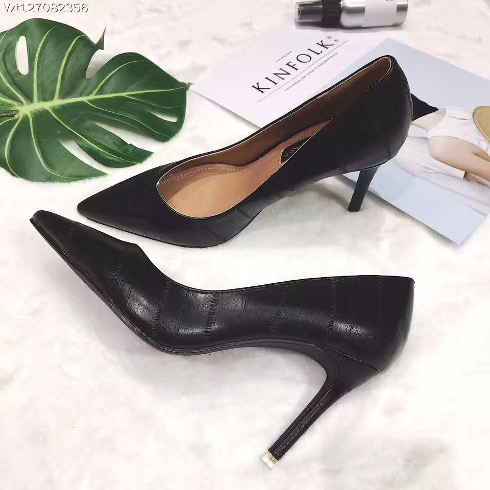 ФОТО Sexy Women Shoes High Heels Pointed Toe Women Pumps Black Red Beige Pink Work Shoes Fashion Wedding Shoes Slip On