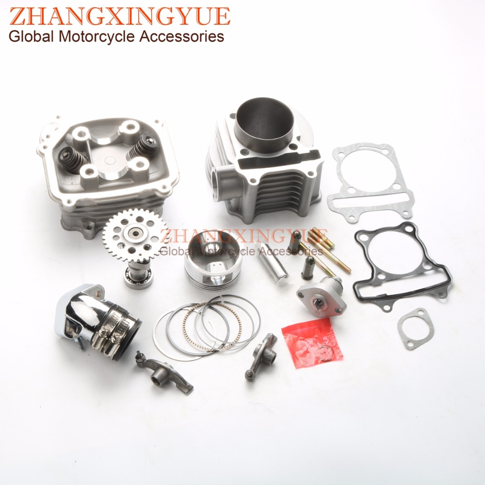 63MM EGR Big Bore Kit & A14 Cam & Racing Manifold & Rocker & Tensioner for GY6 150cc Upgrade to 200cc 4T Scooters