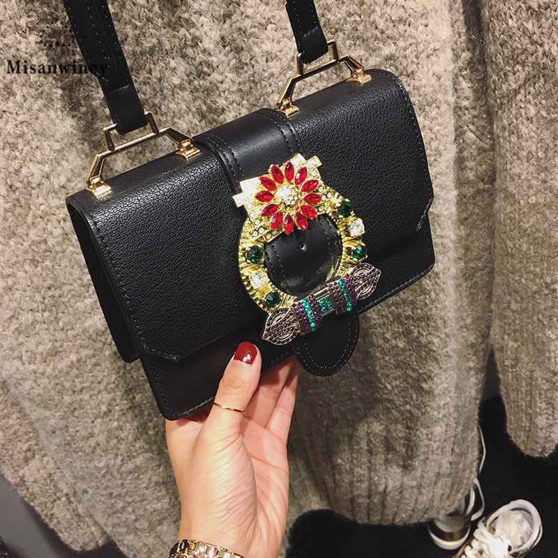 Women Luxury Designer Diamond Pearl Bags Famous Brand Ladies Chains Locks Shoulder Bag Personality High Quality Flap Clutch Bags сумка через плечо bolsas femininas couro sac femininas couro designer clutch famous brand