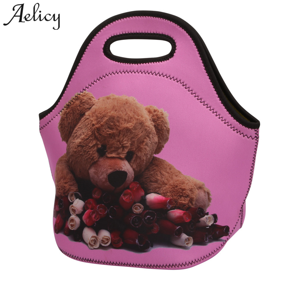 Aelicy Luxury Portable Lunch Bag Neoprene Carry Tote Storage Bag Travel Picnic Food Pouc ...
