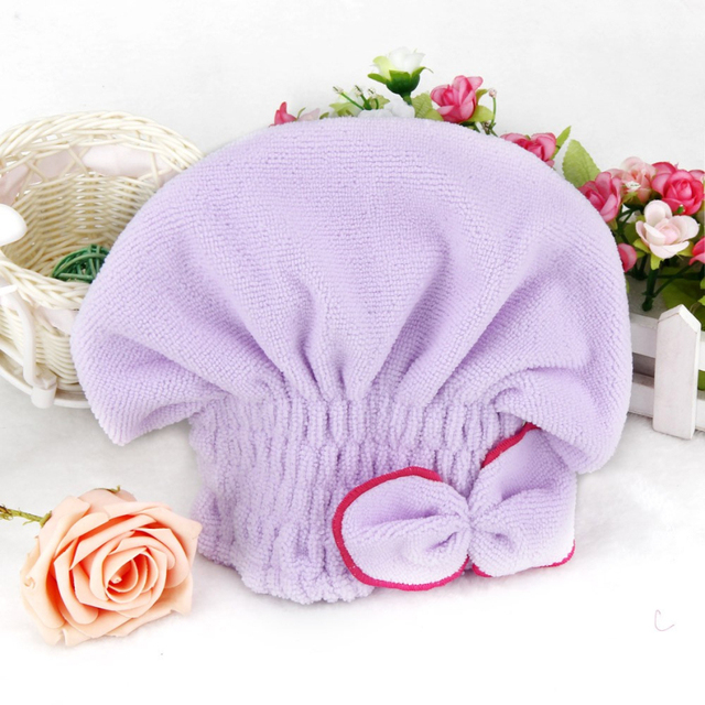 Ouneed Happy Quick Dry Towel Newly Textile Useful Dry Microfiber Turban Quick Hair Dry Fast Hats Towels Bathing 18