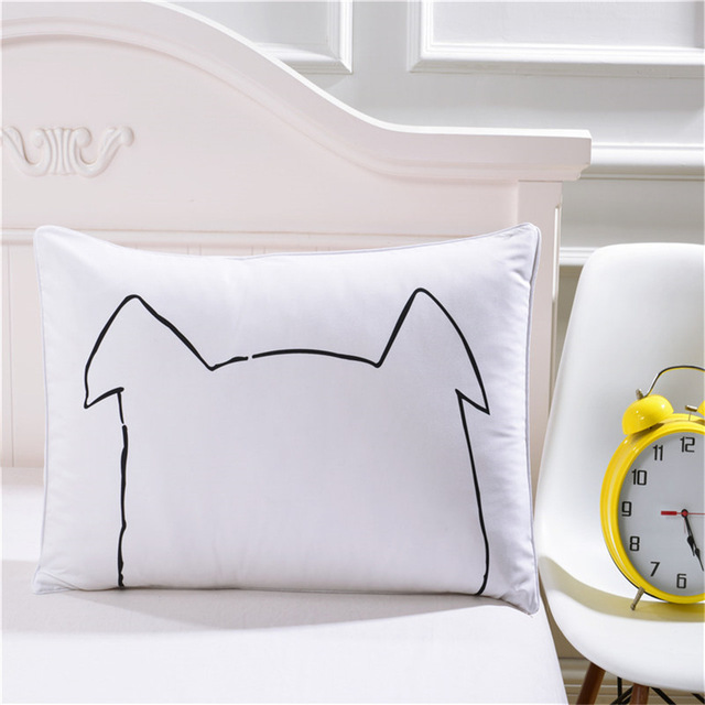 printed pillow cases. 2 Pieces/set Cute Cartoon Printed Pillowcases Black And White Pillow Covers Rectangle Bed Cases 7