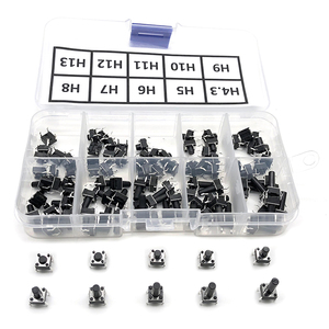 100pcs / 10 models 6*6 Light micro touch Switch sets Push Button Switch Kit , Height: 4.3MM - 13MM DIP 4Pin 6x6 Keys Tact ON/OFF(China)
