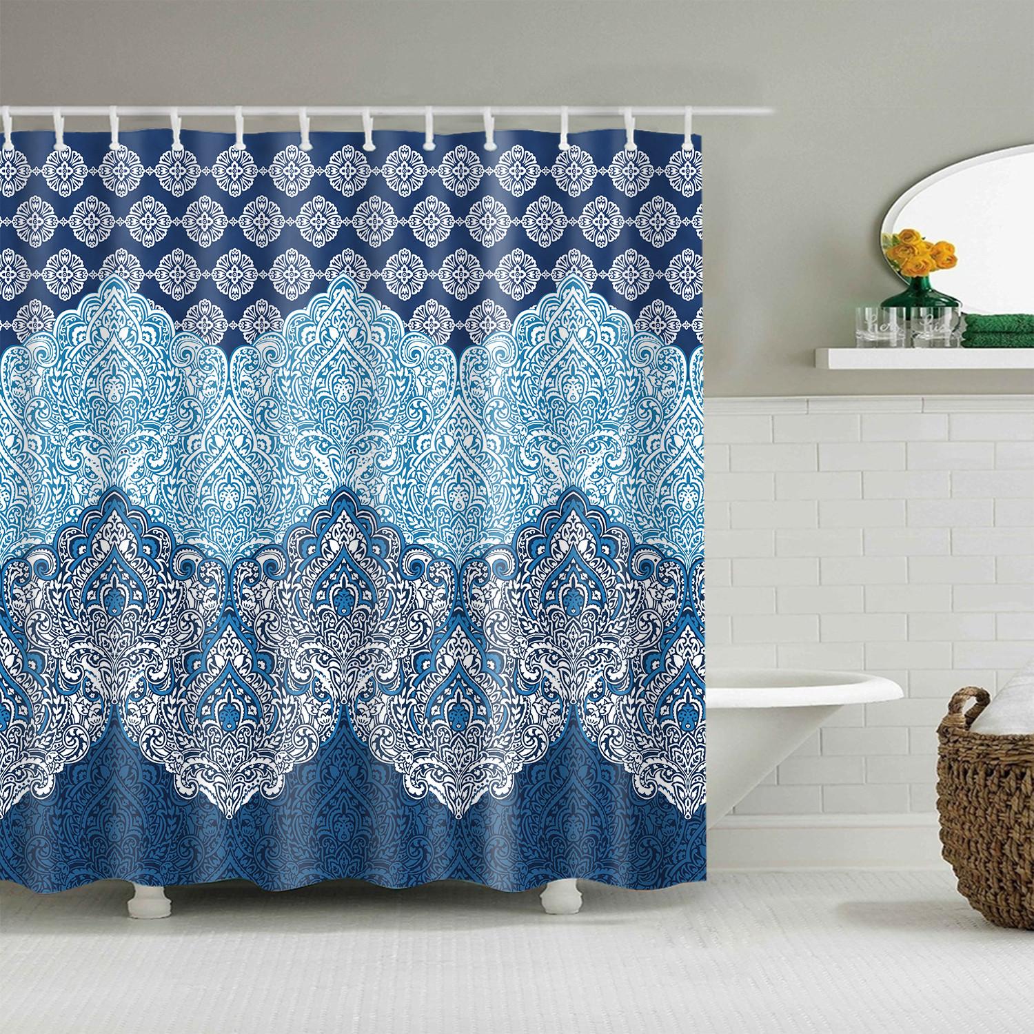 Waterproof Shower Curtain Home Bathroom Extra Long <font><b>150*200</b></font> cm blackout Mandala bath curtain For Bathroom cortinas de bano image