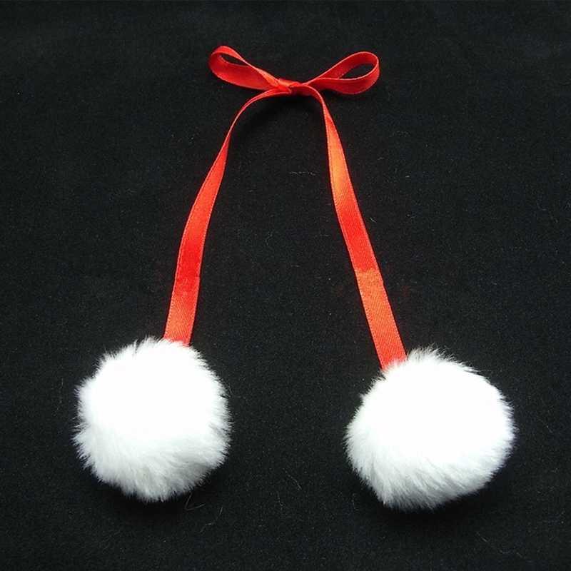 1 pc 8 cm Fluffy Faux Pele De Coelho Pom Pom Bola Pompom DIY Chaveiro Bugiganga Encantos do Saco Das Mulheres De Pele traje de casamento Ornamento Jóias
