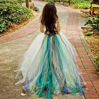 2018 Colorful Lovely Flower Girl Dresses Ball Gown Tulle One Shoulder Cute Little Girls Pageant Dress Kids Children Dress 2017