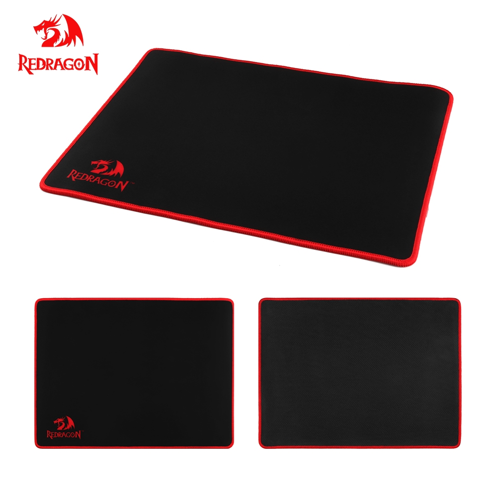 лучшая цена Redragon Gaming Mouse Pad Gamer Solid Color Locking Edge Keyboard Mouse Mat Gaming Desk Mousepad for GO LOL Dota CS Game