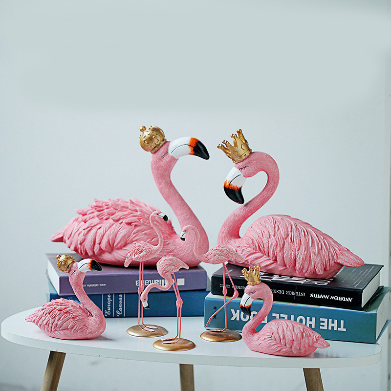 King and Queen Ins Flamingo Decoration For Living Room Romatic Wedding Ornament Accessories Birthday Party Home Garden Supplies  1