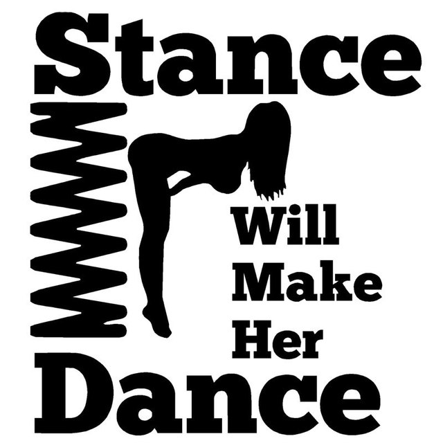 14cm15 1cm stance will make her dance decal jdm car sticker diy car styling