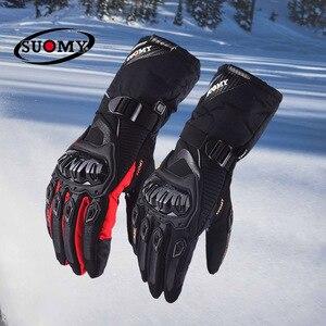 Image 3 - Suomy darmowa wysyłka zimowe ciepłe moto rcycle rękawice 100% wodoodporne wiatroszczelne Guantes rękawice motocyklowe ekran dotykowy Moto siklet Eldiveni