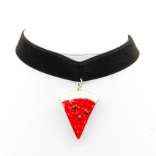 1pcs Fashion Watermelon Pendant Necklace LeatherNecklaces NEW Valentine s gift font b accessories b font wholesale
