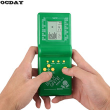 Retro Electronic Tetris Brick Game Kids Classic Handheld Machine with Music Boys Girls LCD Educational Toys Hot