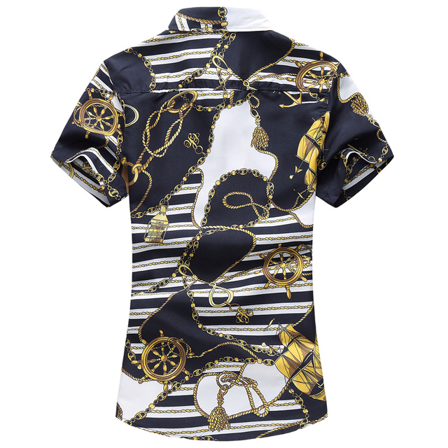 Casual Short Sleeve Print Shirt Camisa 5
