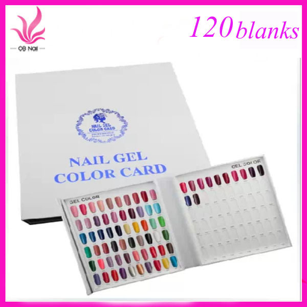 New 120 Colors Nail Gel Polish Display Book Chart for Nail Art Salon ...
