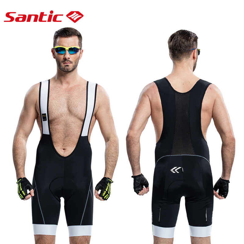 Santic Men Cycling Trägerhose MTB Gepolsterte Atmungsaktives Mesh - Radfahren - Foto 2