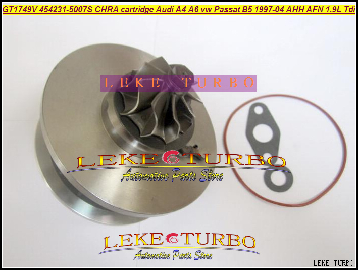 Turbo cartridge chra GT1749V 454231 454231-5007S 028145702H 028145702HX for Audi A4 A6 VW Passat B5 AVB BKE AHH AFN AVG 1.9L TDI gt1749v 454231 vw turbocharger cartridge core for volkswagen passat b5 81kw 1 9 tdi turbo chra 454231 0005 passat turbo kit