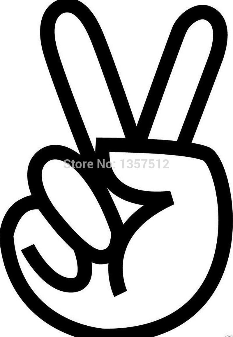 12 7cm x 8 6cm peace sign love hippie tattoo sticker car window truck suv door art wall etc vinyl decal 13 colors