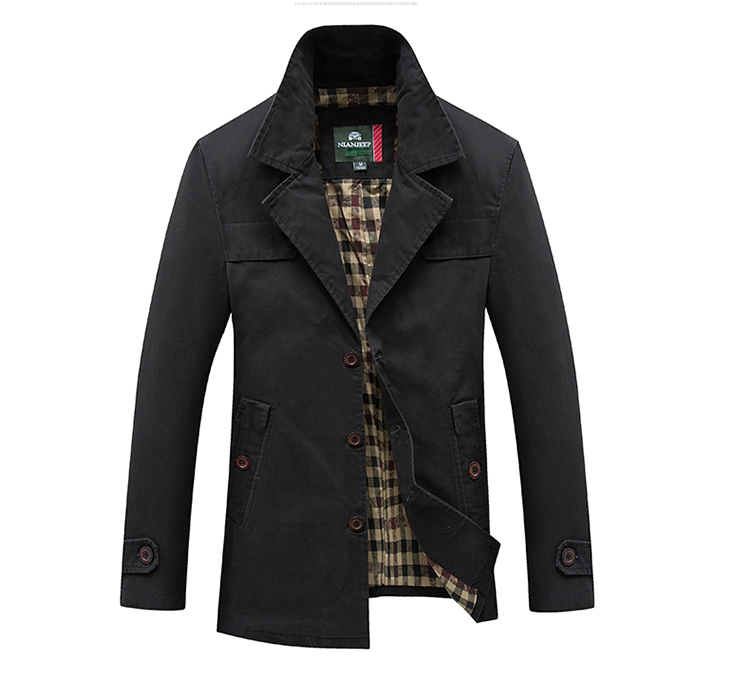 HTB1UCs5UNTpK1RjSZFKq6y2wXXaG Men's Spring Autumn Business Casual Long Cotton Trench Coat Jacket Men Winter Brand Classic Iconic Trench Breasted Overcoat Men