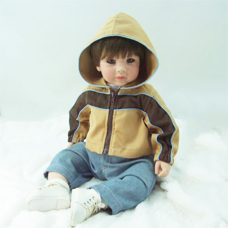 Pursue 24/ 60 cm Handmade Fake Baby Alive Doll Silicone Dolls Reborn Lifelike Toddler Boy Baby Dolls Toys for Kids Boy Gift Toy handmade chinese ancient doll tang beauty princess pingyang 1 6 bjd dolls 12 jointed doll toy for girl christmas gift brinquedo