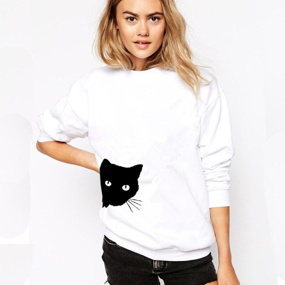 00b51d19a9e04 Autumn And Winter New Cashmere Sweatshirt Female Round Neck Slim Solid Color  Fashion Wild Thin Wool