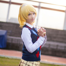 Eli Ayase Cosplay Love Live Lovelive School Idol Project Constellation Unawakened Uwowo Costume Sweater Blouse & Skirt