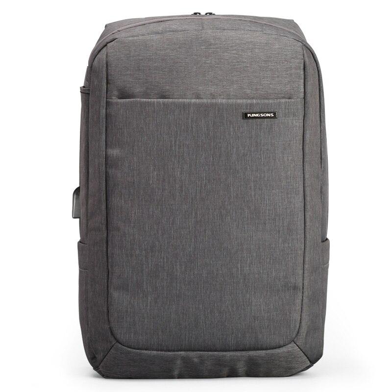 Kingsons Waterproof Men Backpack Large Male Backpack 15.6 inch Laptop Backpack Air Bag Shockproof Backpack Brand USB Charging