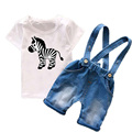 Organic Cotton Zebra Whale kids clothes Summer 2017 Toddler Boys Clothing Sets Children Costume Cute Animals 2 piece Set TS02