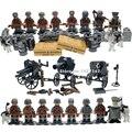 Ww2 немецкая армия SWAT военная здание блоки С большим количеством оружия лепин солдат игрушки для детей пушки Совместимые с Legoes