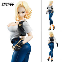 YNYNOO NEW 20cm Dragon Ball 2 Sexy Girl Android 18 Lazuli Action Figure Toys Collection Model