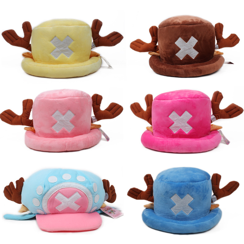 2019 Japan Anime Plush Hat One Piece Tony Chopper Cartoon Cap Halloween Party Toys