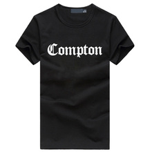 2016 Summer Compton letter print men's t shirts fashion Hip hop streetwear tshirt homme funny casual fitness brand clothing tops