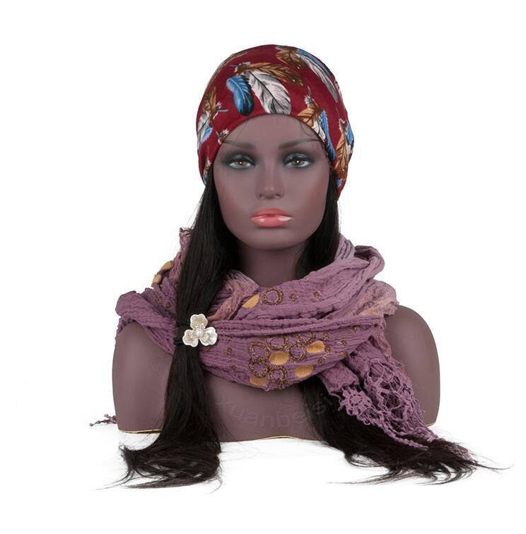 Черный женский реалистичный манекен голова бюст Распродажа для